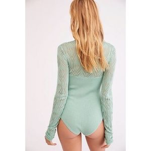 Free People Tops - NWT Free People Pretty in Pointelle Bodysuit